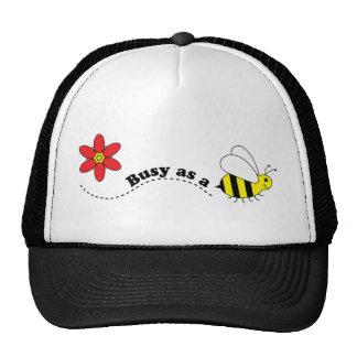 Ocupado como desenhos animados felizes das abelhas boné
