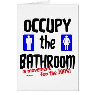 Ocupe o banheiro cartão