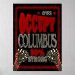 Ocupe o protesto de Columbo OWS 99 por cento forte Posteres