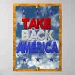 Ocupe o sinal do protesto de América Posteres