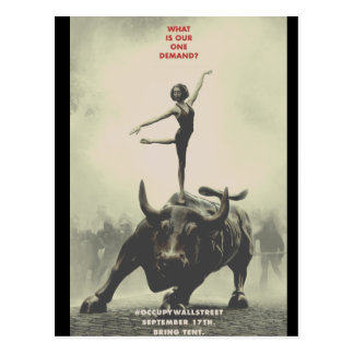 Ocupe Wall Street 2011 coleccionável Cartão Postal