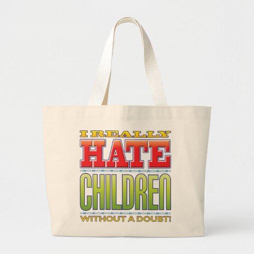 Ódio das crianças bolsa para compras