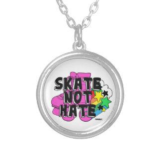 Ódio do skate não colar com pendente redondo