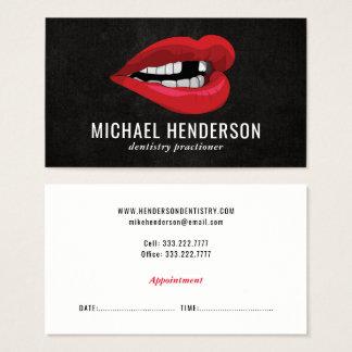 Odontologia cosmética profissional moderna cartão de visitas