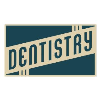 odontologia retro cartão de visita