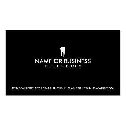 odontologia simples modelo cartões de visitas