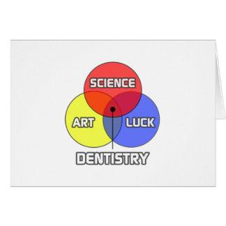 Odontologia. Sorte da arte da ciência Cartao