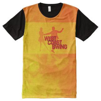 Oeste Coast swing Camiseta Com Impressão Frontal Completa