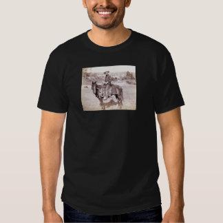 Oeste selvagem do vintage solitário do vaqueiro camiseta