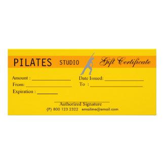 Oferta do certificado de presente de Pilates da 10.16 X 22.86cm Panfleto