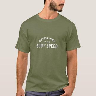 Ofertas ao deus da velocidade camiseta