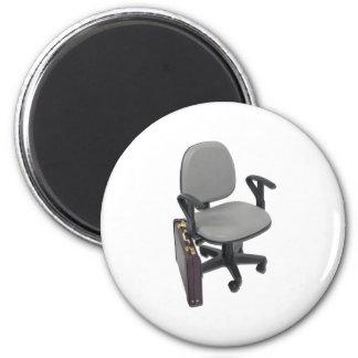 OfficeChairBriefcase102811 Ímã Redondo 5.08cm