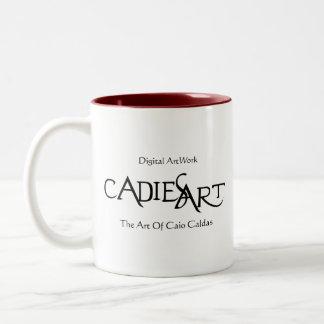 Official CadiesArt Logo Caneca De Café Em Dois Tons