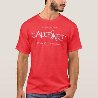 Official CadiesArt Red T-Shirt Camiseta