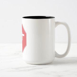 Official CadiesArt Symbol Red Plate Caneca De Café Em Dois Tons