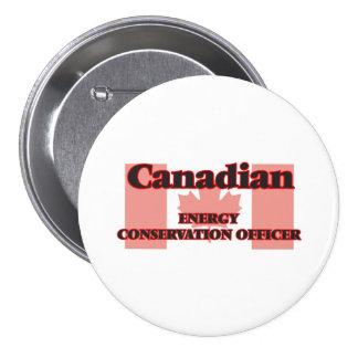 Oficial canadense da conservação de energia bóton redondo 7.62cm