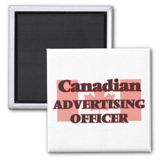 Oficial canadense da propaganda ímã quadrado