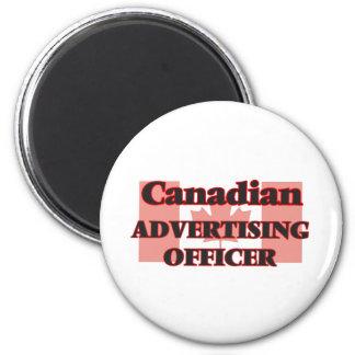 Oficial canadense da propaganda ímã redondo 5.08cm