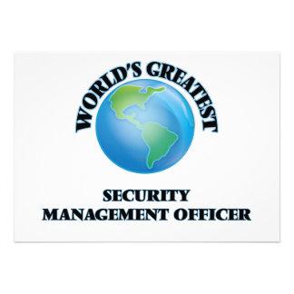 Oficial da gestão da segurança do mundo o grande convite personalizados
