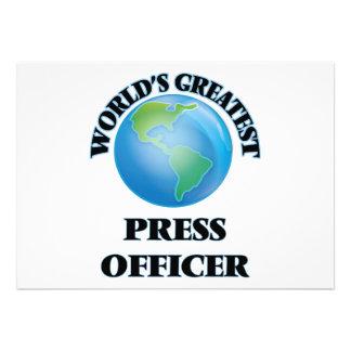 Oficial da imprensa do mundo o grande convites