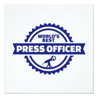 Oficial da imprensa do mundo o melhor convite quadrado 13.35 x 13.35cm