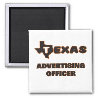 Oficial da propaganda de Texas Ímã Quadrado