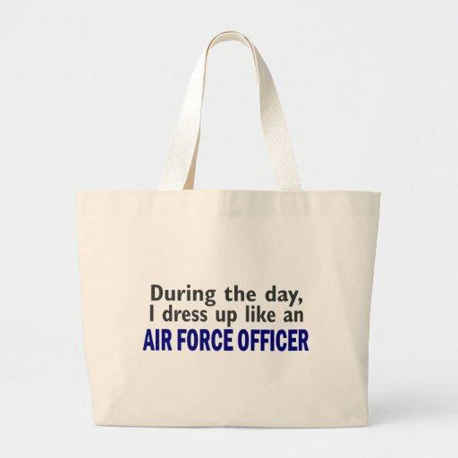 OFICIAL de FORÇA AÉREA durante o dia Bolsas Para Compras