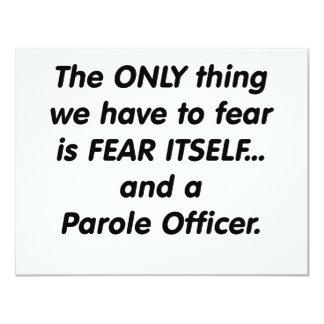 oficial de palavra de honra do medo convite 10.79 x 13.97cm