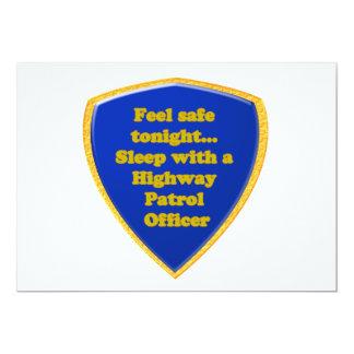 Oficial de patrulha da estrada convite 12.7 x 17.78cm