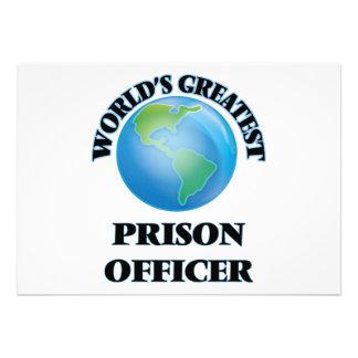 Oficial de prisão do mundo o grande convites