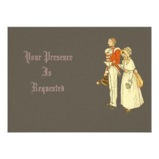 Oficial do exército e senhora do Victorian Convites