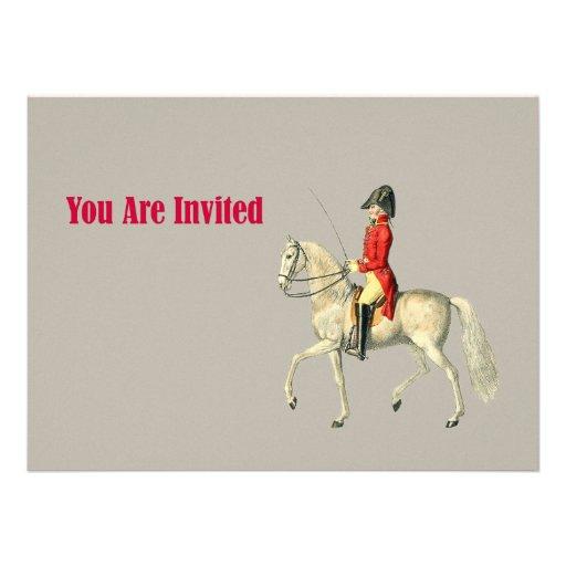 Oficial do exército montado do Victorian Convite Personalizados