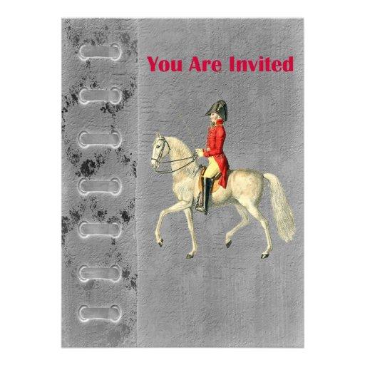 Oficial do exército montado do Victorian Convites Personalizado