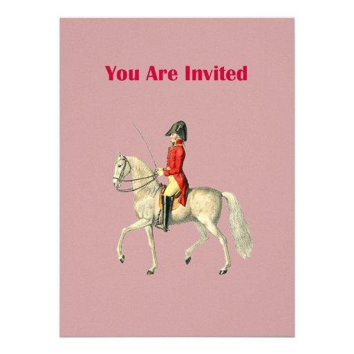 Oficial do exército montado do Victorian Convite Personalizado