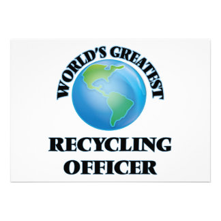 Oficial do reciclagem do mundo o grande convites personalizado