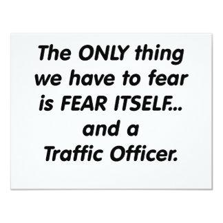 oficial do tráfego do medo convite 10.79 x 13.97cm