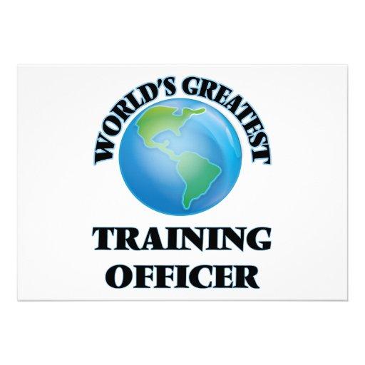 Oficial do treinamento do mundo o grande convite personalizados