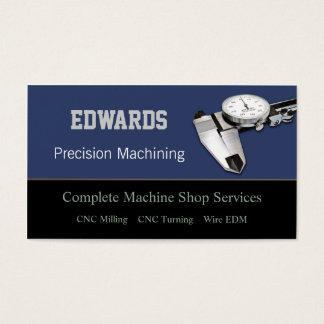 Oficina de construção mecânica cartão de visitas
