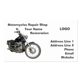 Oficina de reparações 2 das motocicletas cartão de visita