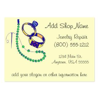 Oficina de reparações da jóia cartoes de visitas