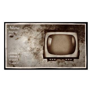 Oficina de reparações da tevê do Grunge - cartão d Modelo Cartao De Visita