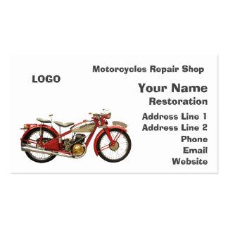 Oficina de reparações das motocicletas cartão de visita