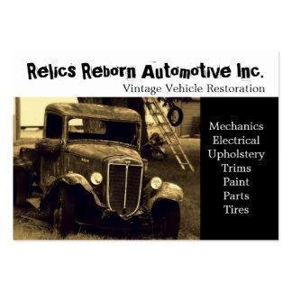 Oficina de reparações velha do caminhão modelos cartoes de visitas