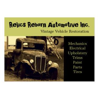 Oficina de reparações velha do caminhão do veículo modelo cartão de visita