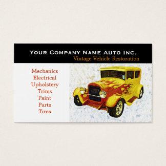 Oficina de reparações velha do carro - cartão de visitas