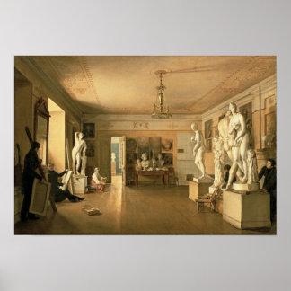 Oficina do artista Alexey Venetsianov 1827 Posteres
