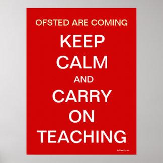 Ofsted está vindo mantem a calma e continua pôster