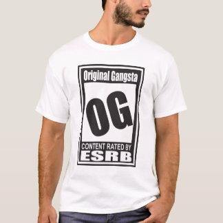 OG avaliado para Gangsta original Camiseta