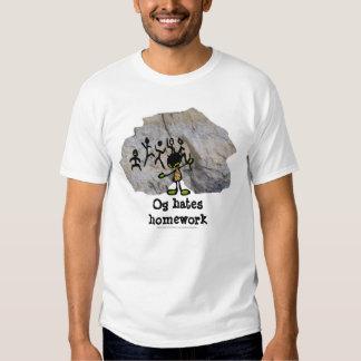 Og deia trabalhos de casa t-shirts