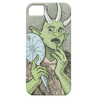 Ogre vão com espelho de mão capa barely there para iPhone 5